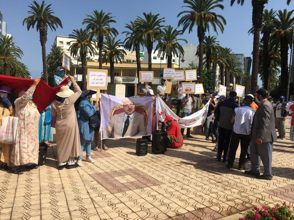 وقفة احتجاجية للباعة المتجولين – الفراشة – بالمحمدية
